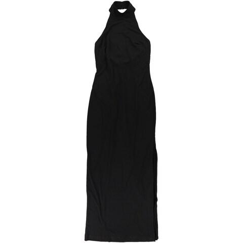 Lauren Ralph Lauren Womens Jersey Column A-line Gown Dress, Black, 10