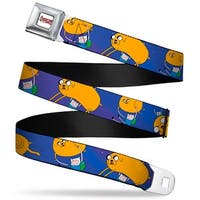 Adventure Time Logo White Full Color Jake Balloon W Finn Webbing Seatbelt Seatbelt Belt