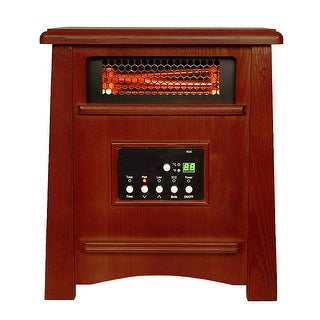 Green Peak 8 Element Quartz Infrared Heater GreenPeak 1800 Sq. Ft. - Oak