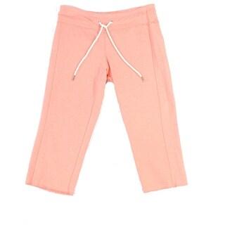 Calvin Klein NEW Orange Womens Size XS Drawstring Cropped Lounge Pants