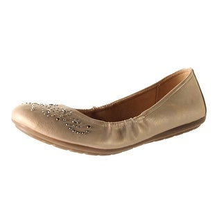 Naturalizer Womens Unison Faux Leather Studded Ballet Flats