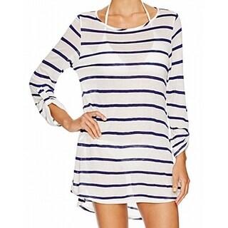 Splendid NEW White Womens Size Small S Cover-Up Striped Swimwear