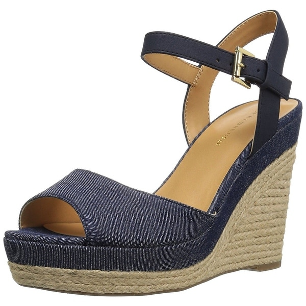 Tommy Hilfiger Womens kali Fabric Open Toe Casual Platform Sandals