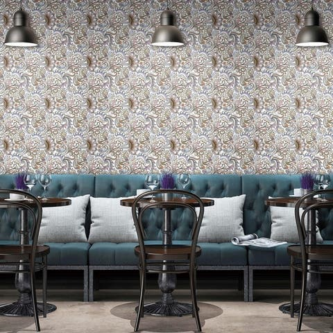 "SomerTile Imagine Tapestry Paisley 19-3/8"" x 19-3/8"" Porcelain Floor and Wall Tile - Case (4 Tiles)"