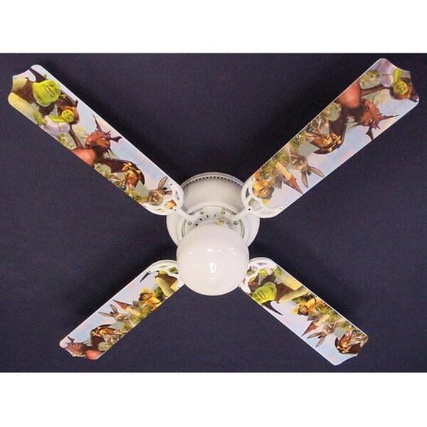 Soccer Baseball Football Sports Print Blades 42in Ceiling Fan Light Kit - Multi