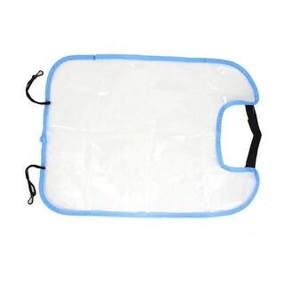 Unique Bargains Plastic Washable Car Seat Back Protector Cover Pad Clear Blue