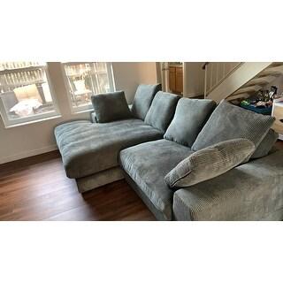 Shop Aurelle Home Reversible Deep Seat Contemporary ...
