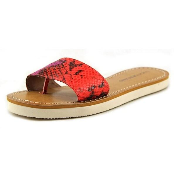 Lucky Brand Deldonna Women Open Toe Synthetic Slides Sandal