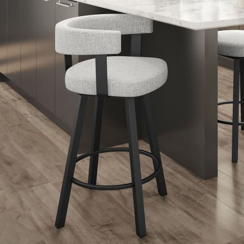 Amisco Parker Swivel Counter and Bar Stool