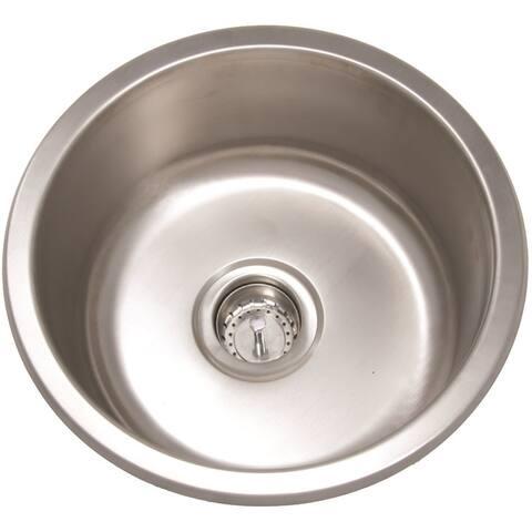 Mirabelle MIRUC16R 16in Single Basin Stainless Steel Bar Sink - Undermount Installation