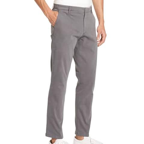 DKNY Mens Pants Gray Size 40X30 Bedford Straight-Leg Chino Stretch