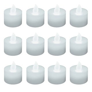"""Set of 12 Battery Operated White LED Tea Lights 1.25"""" - N/A"""