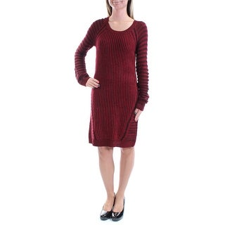 NY COLLECTION Womens 1221 Red Striped Long Sleeve Knee Length Casual Dress S B+B
