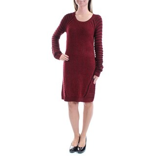 NY COLLECTION Womens 1324 Red Striped Knee Length Casual Dress XS B+B