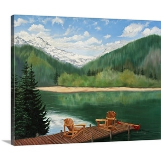 Julie Peterson Premium Thick-Wrap Canvas entitled Retreat