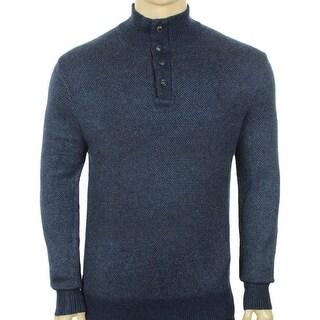 Polo Ralph Lauren NEW Blue Mens Size Medium M Mock Neck Silk Sweater