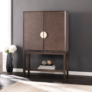 Link to Strick & Bolton Barlow Contemporary Gray Wood Storage Cabinet Similar Items in Bookshelves