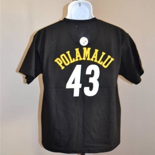 Shop MINOR FLAW-  43 Troy Polamalu PITTSBURGH STEELERS youth XLARGE XL shirt  - Free Shipping On Orders Over  45 - Overstock.com - 23079915 8a9466317