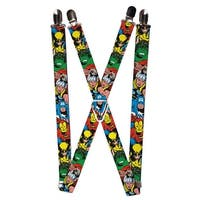 Buckle Down Men's Elastic Marvel Avengers Clip End Suspenders - One size