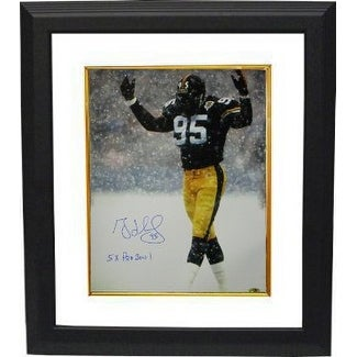 9100e8ea6 Shop Greg Lloyd signed Pittsburgh Steelers 16X20 in the Snow Photo 5 x Pro  Bowl Custom Framed - Free Shipping Today - Overstock - 19869449
