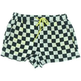 Zara Basic Womens Checkered Drawstring Casual Shorts - M