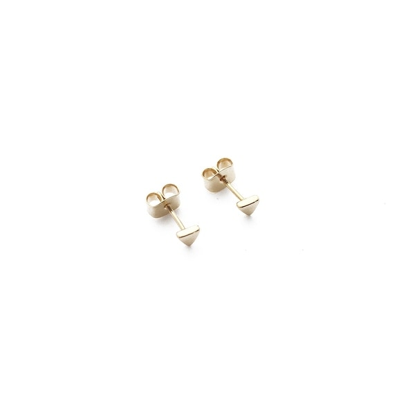 Honeycat Tiny Triangle Stud Earrings (Delicate Jewelry)
