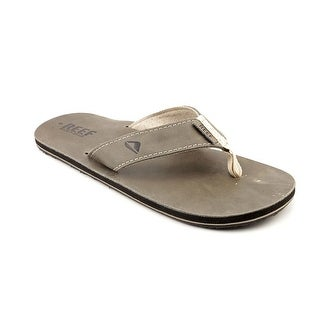 Reef Leather Smoothy Open Toe Leather Flip Flop Sandal