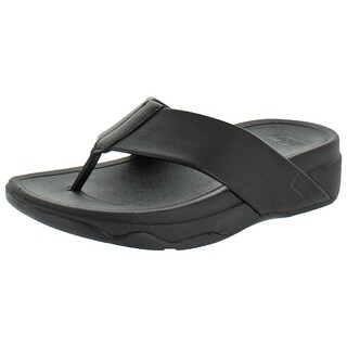 FitFlops Women's Surfa Leather Slip-on Sandals Shoes