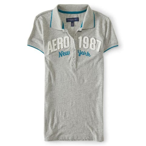 Aeropostale Womens 1987 New York Polo Shirt