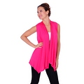 Simply Ravishing Women's Basic Sleeveless Open Cardigan (Size: Small-5X) - Thumbnail 14