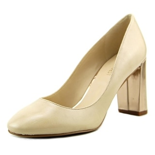 Nine West Fabrice Women  Round Toe Leather Tan Heels