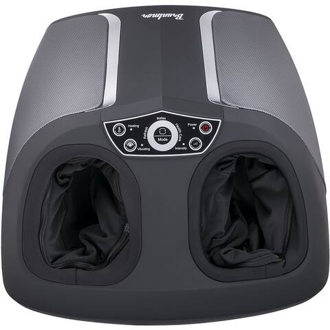 Shiatsu Foot Massager 3 Modes with Heat Function, Deep Kneading Air Compression by Bruntmor
