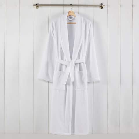 100-Percent USA Cotton Classic Bathrobe With Shawl Collar