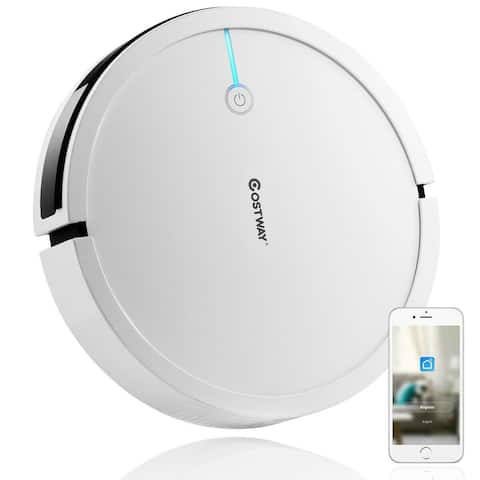Voice Control Self-Charge Vacuum Cleaner Robot - White