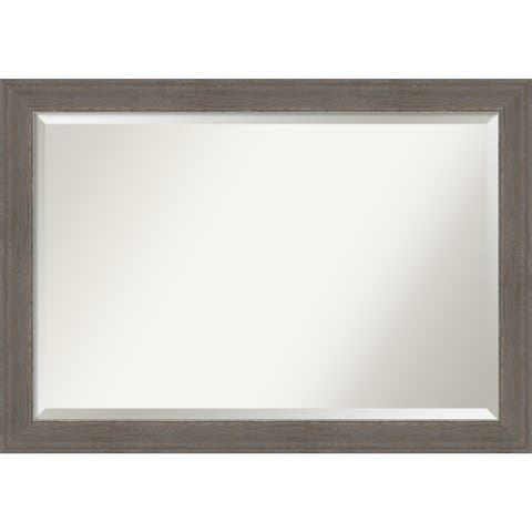 Alta Brown Grey Bathroom Vanity Wall Mirror