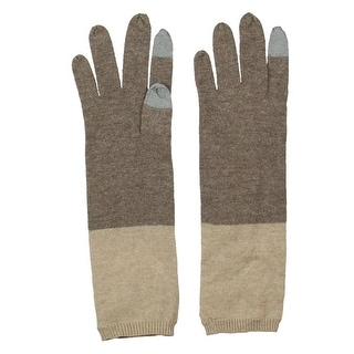 Magaschoni Womens Everyday Gloves Cashmere Colorblock - o/s