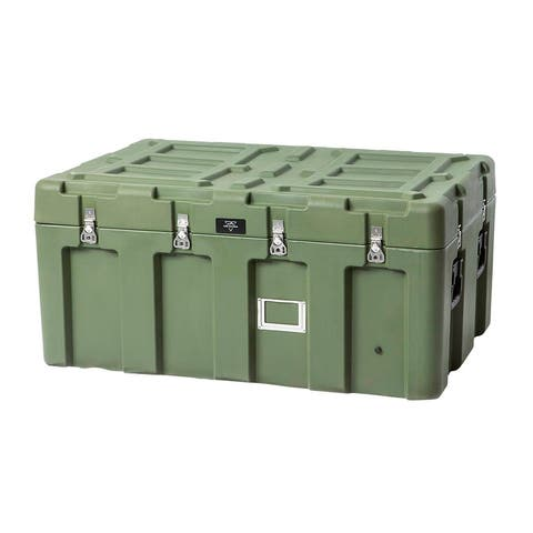 Monoprice Rotomodeled Weatherproof Case - Green (44 x 28 x 21 inches) Stackable - Pure Outdoor Collection