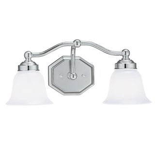 """Norwell Lighting 8319 Trevi 8"""" Tall 2 Light Bathroom Vanity Light with White Glass Shades (4 options available)"""
