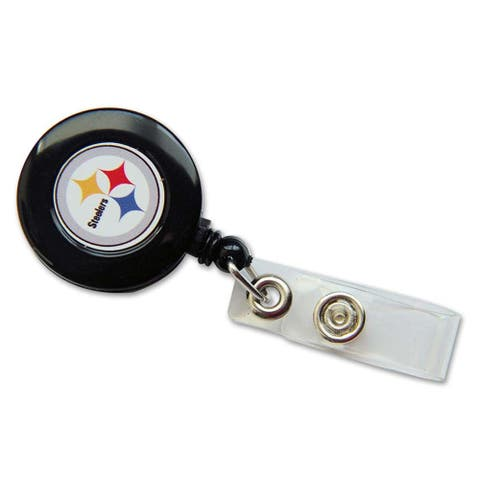 "Pittsburgh Steelers Retractable Badge Reel Id Ticket Clip NFL - 30"" retractable"
