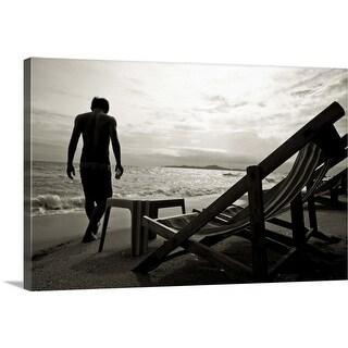 """""""Beach man"""" Canvas Wall Art"""