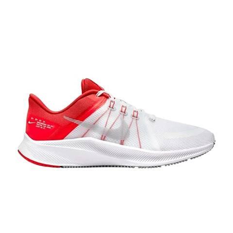 Nike Men's Quest 4 White/Wolf Grey-Chile RED-Pure Platinum Platform (DA1105-100)