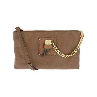 MICHAEL Michael Kors Womens James Clutch Handbag Leather Adjustable - LARGE