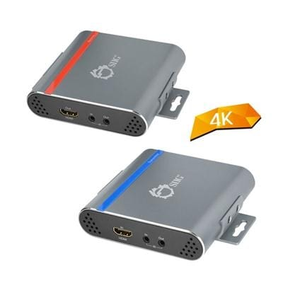 Siig Hdbaset Hdmi Extender 4K Ultra Hd Over Single Cat5e/6 With Bi-Directional Ir Up To 70M (230Ft) - Power Over Etherne