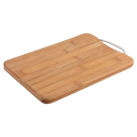 Restaurant Kitchen Bamboo Rectangle Shaped Meat Fruit Chopping Cutting Board