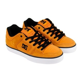 DC Pure Mens Tan Suede Lace Up Lace up Sneakers Shoes