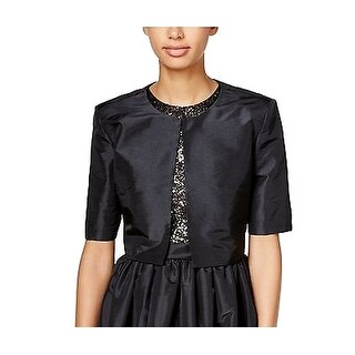 Calvin Klein NEW Black Women's Size Small S Open Front Shrug Jacket
