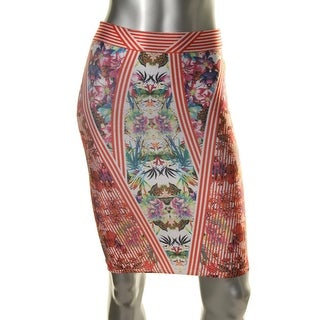 WOW Couture Womens Knee-Length Printed A-Line Skirt - M
