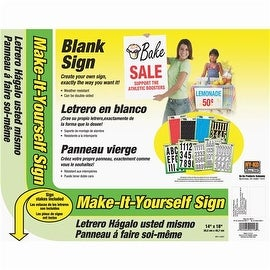 Hy-Ko Make-It-Yourself Corrugated Plastic Sign Kit