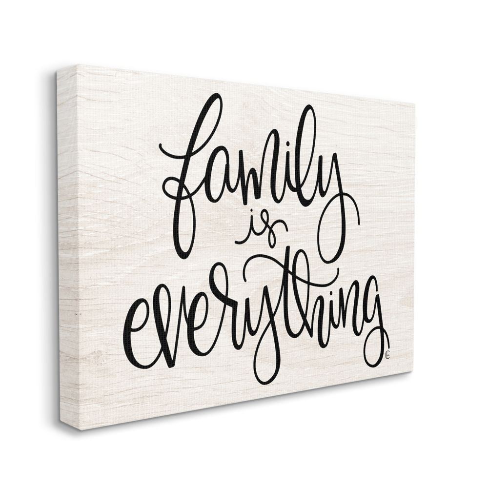 Stupell Industries Family Is Everything Rustic Quote Farm Home Sign Canvas Wall Art Black On Sale Overstock 31604028