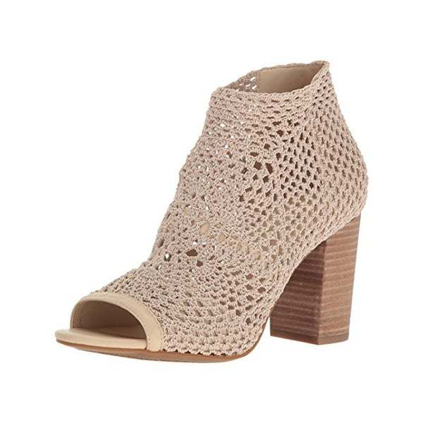 Jessica Simpson Womens Rianne Booties Crochet Open Toe